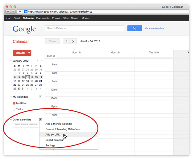 Google Kalender Integration