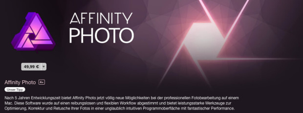 Affinity Photo im Mac App Store