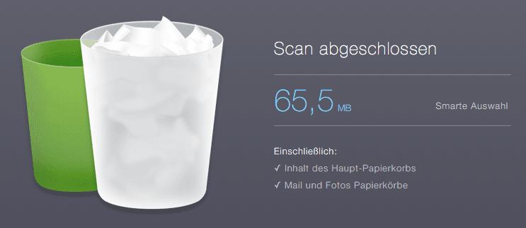 CleanMyMac 3 löscht unlöschbare Dateien aus dem Papierkorb.