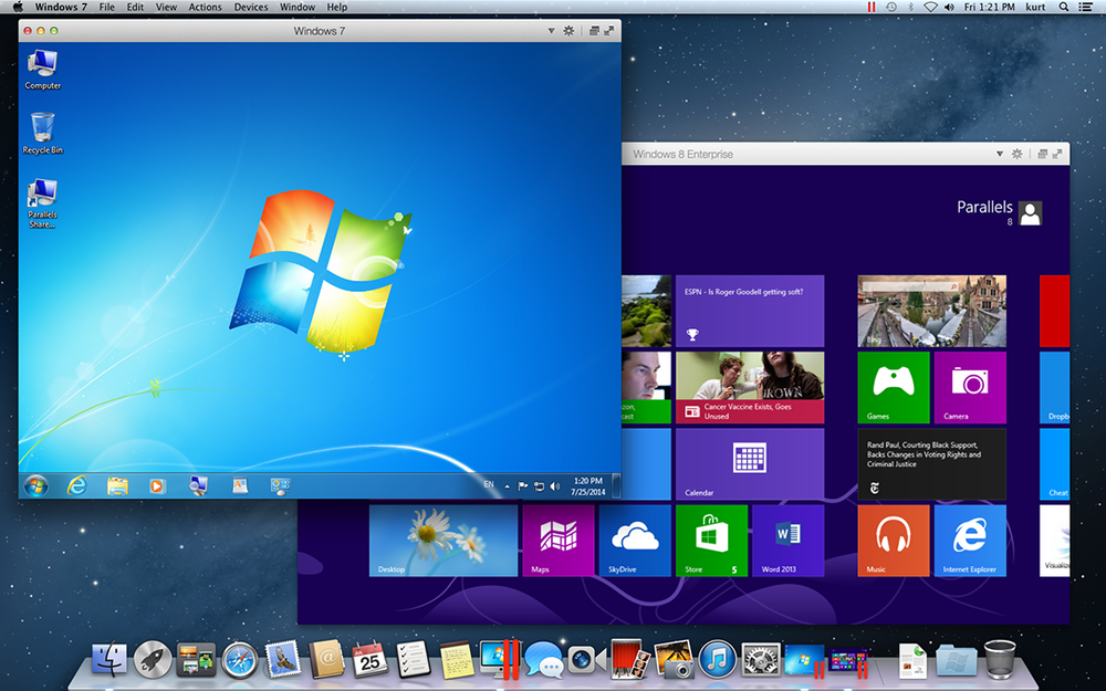 Windows Fenster unter OS X am Mac