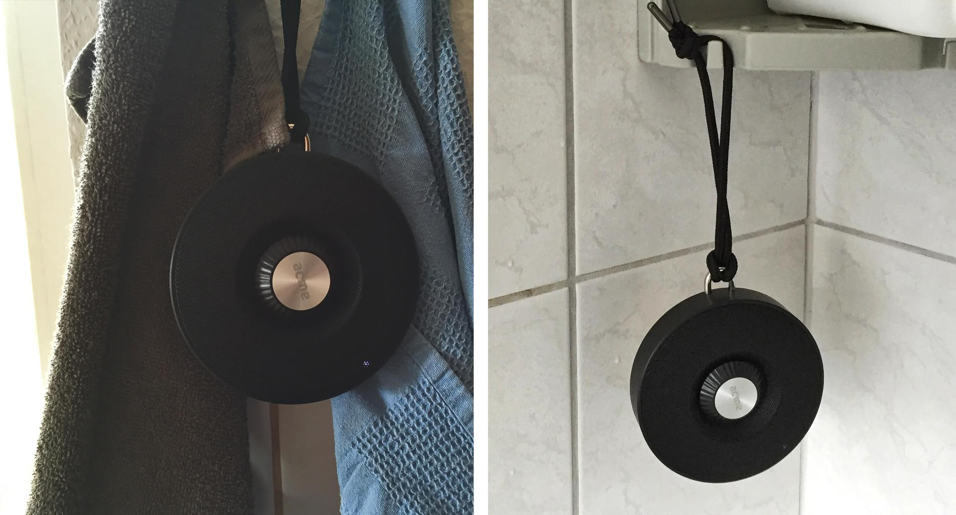 Immer dabei: Der ACME BAT in der Küche und in der Dusche