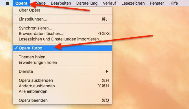 Am Mac kann man so Opera Turbo einschalten.