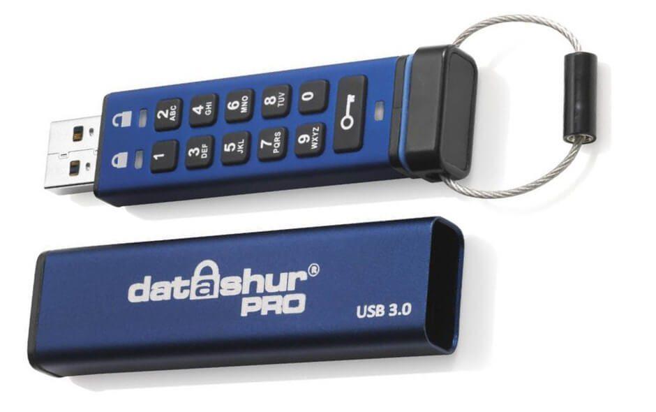 iStorage datashure pro: USB-Stick mit Hardwareverschlüsselung und USB 3.0 Geschwindigkeit