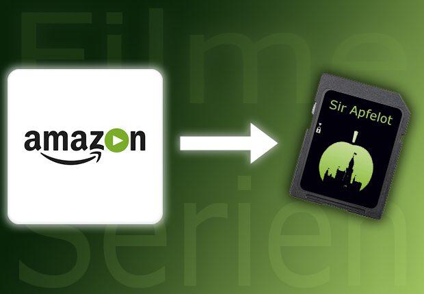 Amazon Video Inhalte auf Speicherkarte
