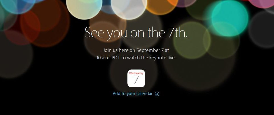 apple keynote 2016 iphone 7 september stream