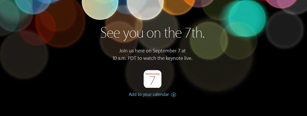 apple keynote 2016 iphone 7 september stream