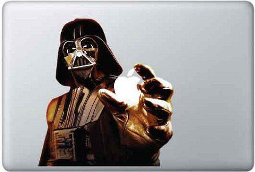 Darth Vader als Aufkleber fürs MacBook