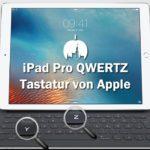 iPad Pro QWERTZ-Tastatur im Apple Shop erhältlich