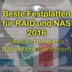 Die besten Festplatten für das NAS oder anderes RAID-System