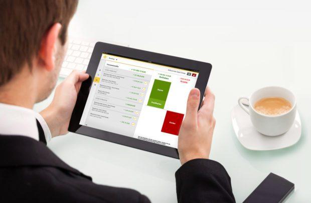 Verwendung der App auf einem Tablet