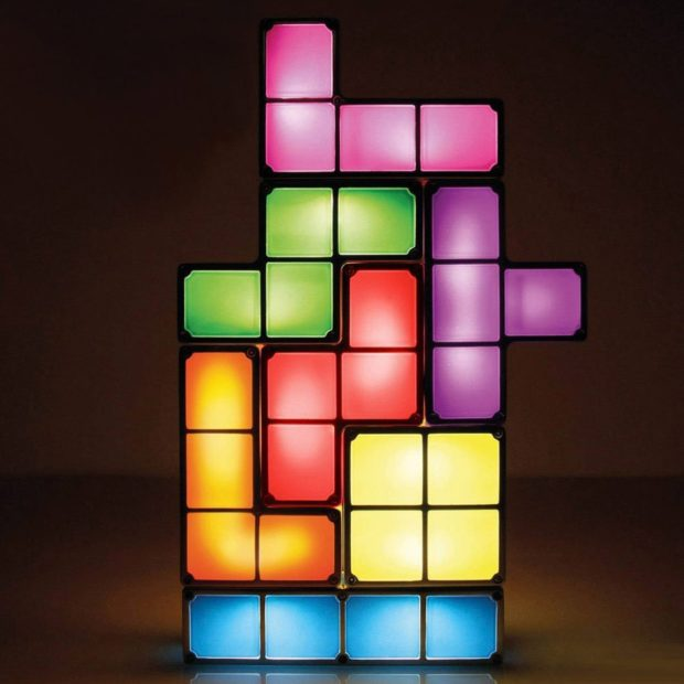 Die Tetris Lampe in Aktion