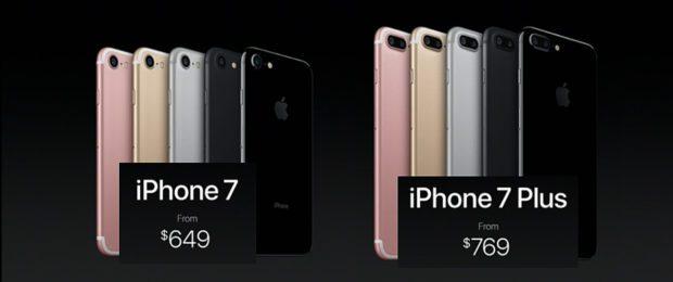one 7 Preis und iPhone 7 Plus Preis direkt von der Apple Keynote 2016