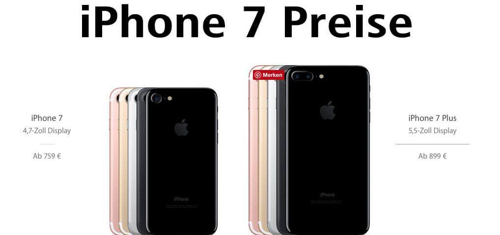 iPhone 7 Preise – soviel Euro kostet das Apple Smartphone in Deutschland