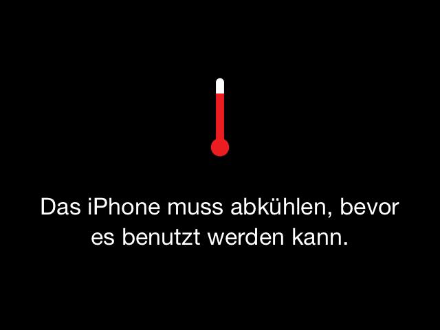 Temperaturwarnung wegen Überhitzung: iPhone zu heiss!