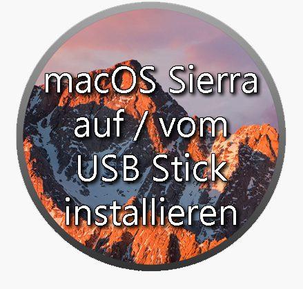 macos sierra usb stick installieren formatieren booten bootfähiger usbstick os x