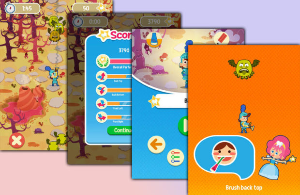 playbrush zähneputzen kinder app screenshots