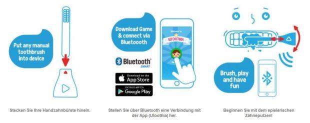 playbrush zähneputzen kinder app zahnbürste anwendung
