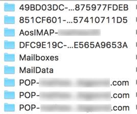 Mail Ordner V3 nach schief gelaufenem Update: es ist ein Mix aus alten und neuen Ordnernamen.