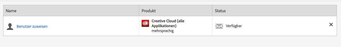 Über die Teamverwaltung im Adobe Account kann man seinem eigenen Benutzer die Adobe CC Lizenz zuweisen, damit die Testversionen gegen Vollversionen getauscht werden.