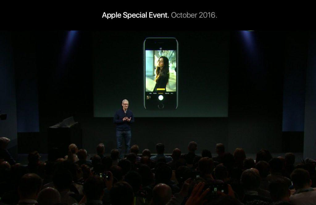"""Apple Event """"hello again"""" im Oktober 2016: so schöne Fotos macht das iPhone 7 (Screenshot aus der Keynote)."""