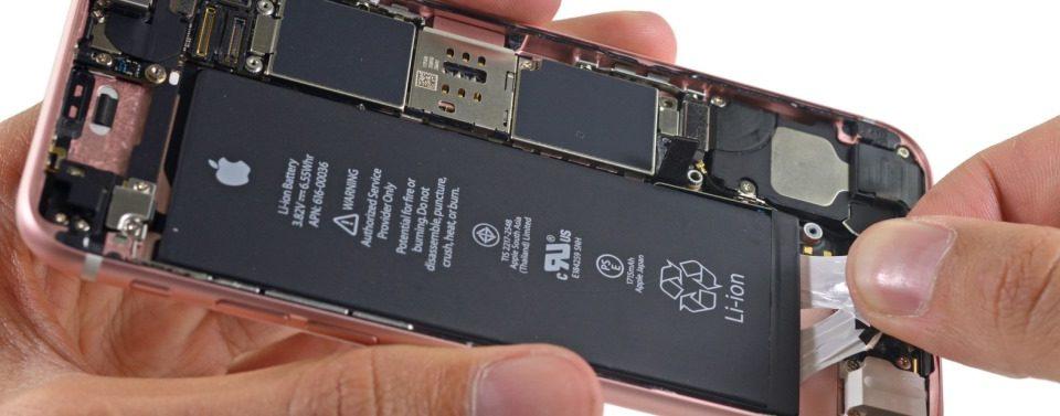apple iphone 6s akku tauschen austauschen batterie set schraubenzieher iphone oeffnen auseinandernehmen ifixit teardown