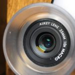 Wenn es im Aukey Objektiv so aussieht, dann ist das Makro-Objektiv ordentlich zentriert.