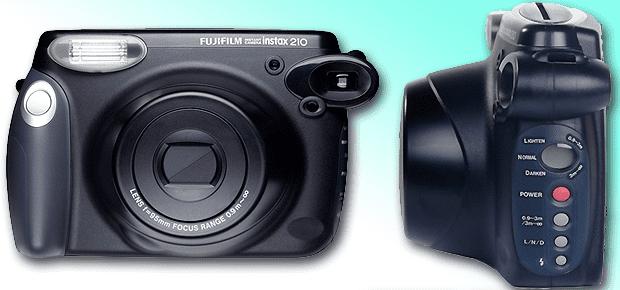 fujifilm instax 210 sofortbildkamera polaroid hp mobile fotodrucker unterwegs vergleich