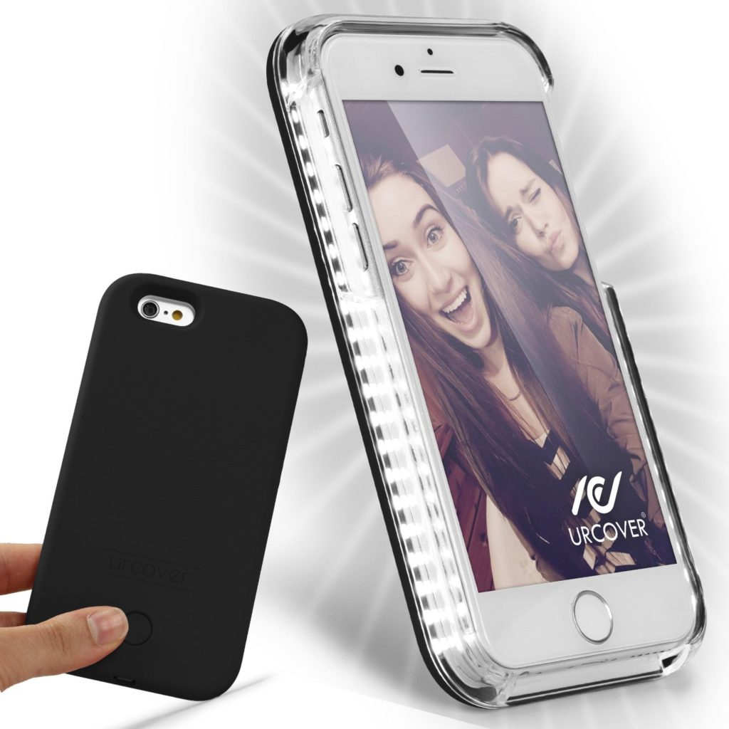 led selfie h llen cases f r das iphone 6 6s plus. Black Bedroom Furniture Sets. Home Design Ideas