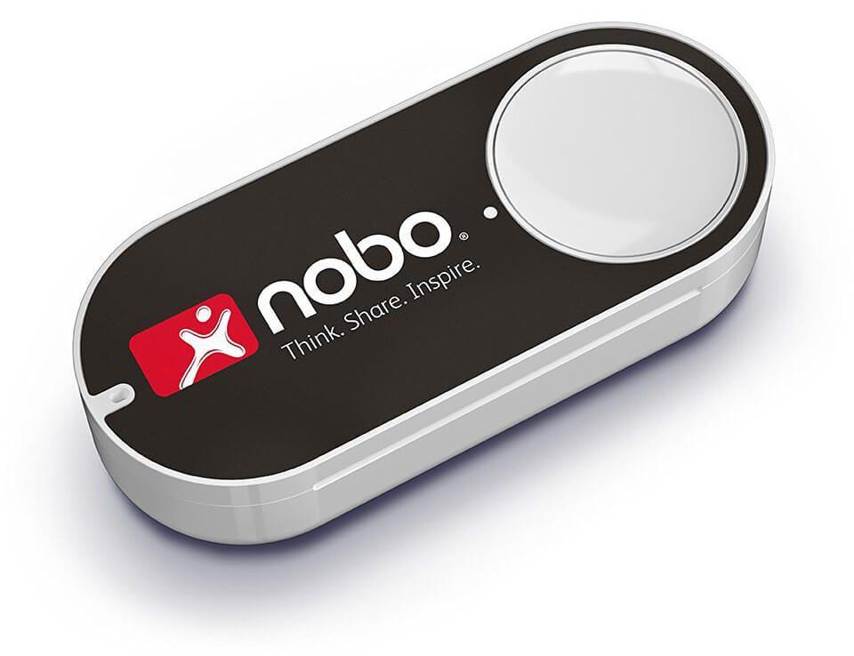 Der Amazon Dash Button von Nobo bringt Bürobedarf auf Knopfdruck (Foto: Amazon).
