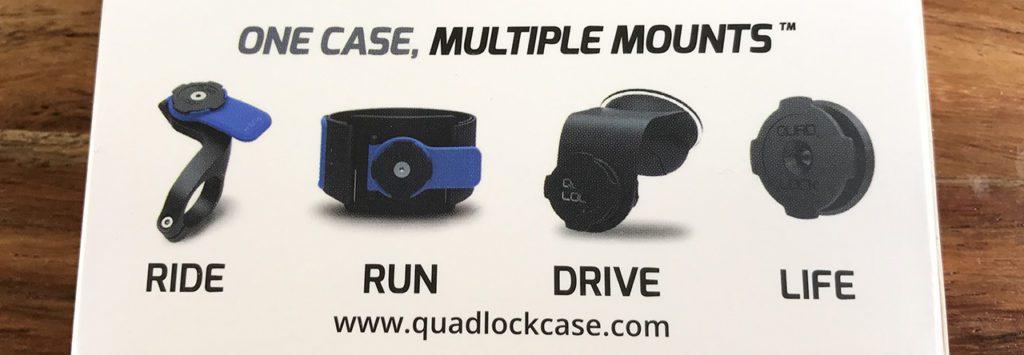 Durch den Click-Verschluss am Case kann man die gleiche Hülle an unterschiedliche Halterungen befestigen – das beste Feature am Quad Lock System!