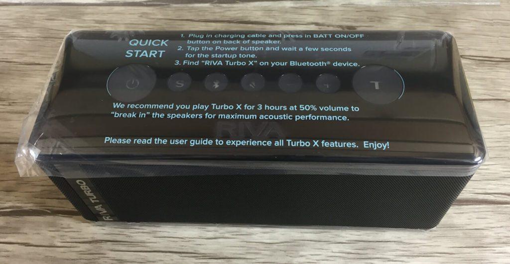 Aufkleber auf dem RIVA Turbo X – erstmal langsam einspielen