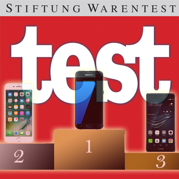beste smartphones 2016 stiftung warentest mit iphone 7. Black Bedroom Furniture Sets. Home Design Ideas