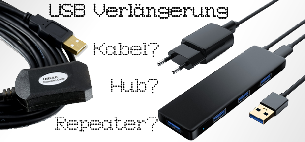 usb verl ngerung wann lohnen sich kabel repeater und usb hub. Black Bedroom Furniture Sets. Home Design Ideas