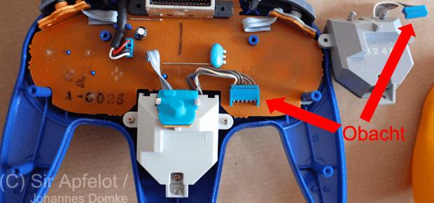 N64 Analogstick auswechseln Stecker lösen