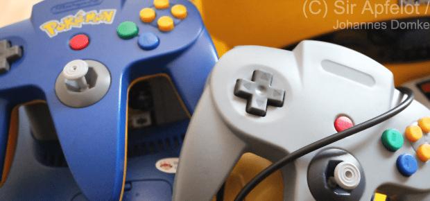 N64 nachgemachter Controller ohne Nintendo Schriftzug