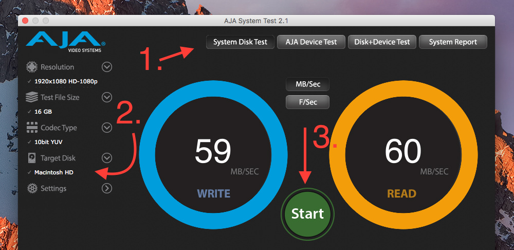 Aja System Test: So startet man das Festplatten Benchmarking.