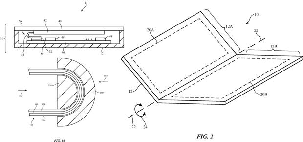 apple patent iphone 8 faltbar