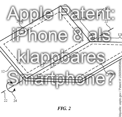 iphone 8 iphone 10 patent 2016 2017 2018 2019 zusammenklappen falten zusammenfalten display