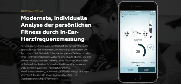 jabra elite sport app sensor fitnesstracker