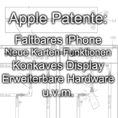 Apple Patente Patent November 2016 faltbar iPhone zusammenklappen Display konkav