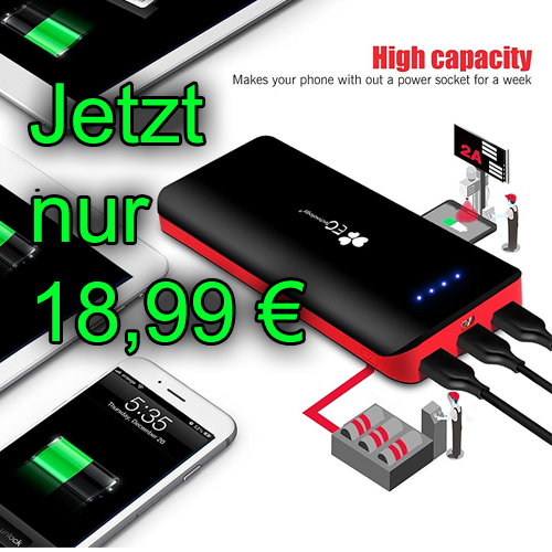 powerbank billiger amazon blitzangebot mobiler akku externer akku iphone smartphone ipad
