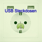 USB Steckdose bestellen und einbauen: Steckdose mit integriertem USB-Anschluss