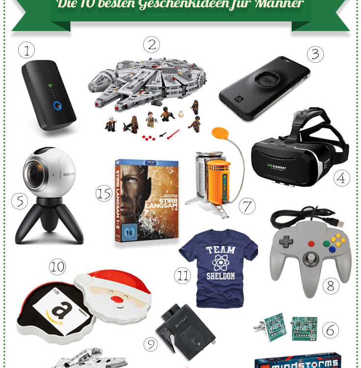 Weihnachten 2016: Die 10 + 5 besten Geschenkideen für den Freund (Grafik: Sir Apfelot).