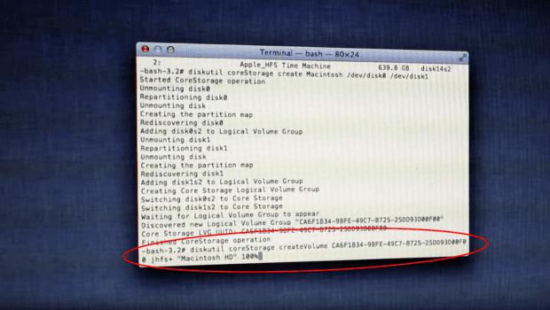 Mac Festplatten Fusion Drive selbst erstellen Code Befehle Übersicht einfach Schritt für Schritt mit Bildern