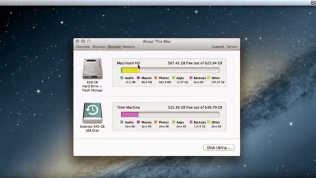 Fusion Drive Übersicht kombimierte Festplatte im Mac