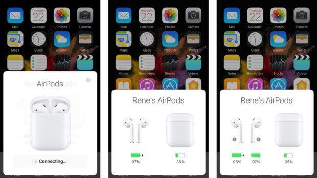 AirPods Pairing mit dem iPhone. Das Herstellen einer Verbindung per Bluetooth ist nutzerfreundlich. Bildquelle: iMore
