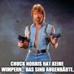 """Chuck Norris Witz """"Augenbärte""""."""