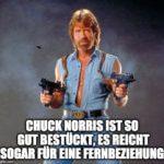 """Chuck Norris Witz """"Fernbeziehung""""."""