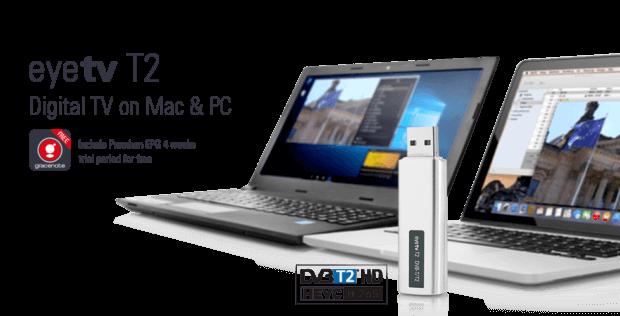 Fernsehen am Mac oder MacBook ist mit dem Geniatech eyeTV T2 kein Problem. Auch HD Programme werden digital terrestrisch empfangen. Bild: geniatech.eu