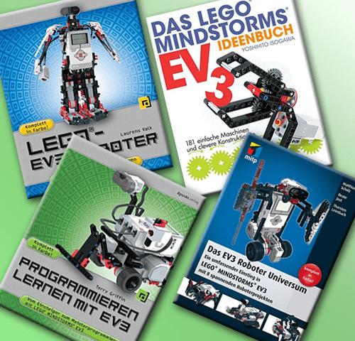LEGO Mindstorms EV3 Bücher mit Projekten, Anleitungen, Kapiteln zum Programmieren lernen und mehr. Hier findet ihr auch LEGO Technik und LEGO Power Functions Bücher! Produktbilder: Amazon